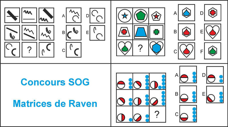 concours SOG matrices raven